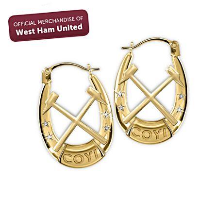 West Ham United Swarovski® Crystal Ladies' Earrings