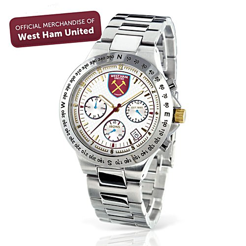 West Ham 'THE IRONS' Stainless Steel Men's Chronograph Watch
