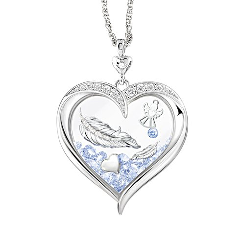 'When Angels Are Near' Diamond Floating Crystal Pendant