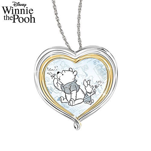 Disney Winnie The Pooh 'Love You Beary Much' Ladies' Pendant