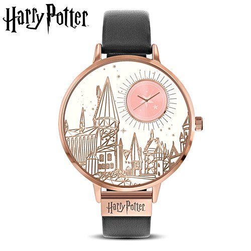 Harry Potter™ 'I'd Rather Be At Hogwarts' Leather Strap Watch