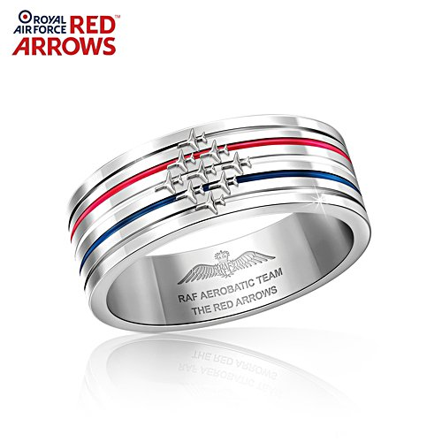 Red Arrows Stainless Steel Men's Ring