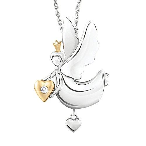 'Granddaughter, Little Angel' Diamond Pendant