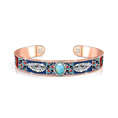 'Native Spirit' Turquoise Copper Touch Bangle