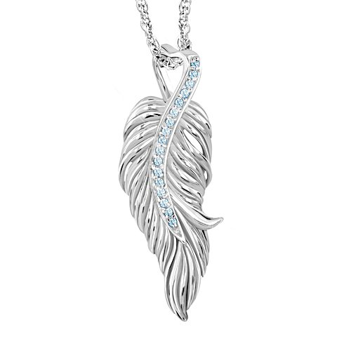 'Guardian Angel Blessings For My Daughter' Ladies' Topaz Necklace