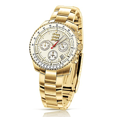 'Spirit Of England' Gold-Plated Chronograph Watch