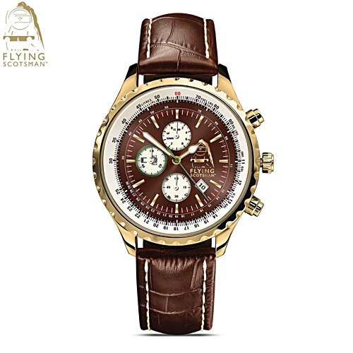 'Legend Of Steam' Gold-Plated Chronograph Watch