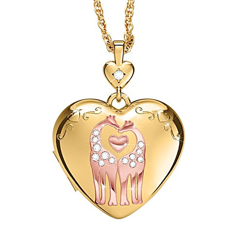 'A Mother's Love' Giraffe Diamond Locket Pendant