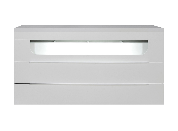 Commode 3 tiroirs leds laque blanc fly - Commode blanc laque fly ...