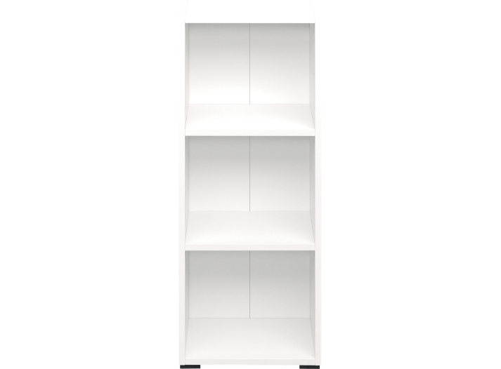 bibliotheque 40x100x28 cm blanc biblioth que salon s jour meuble fly. Black Bedroom Furniture Sets. Home Design Ideas