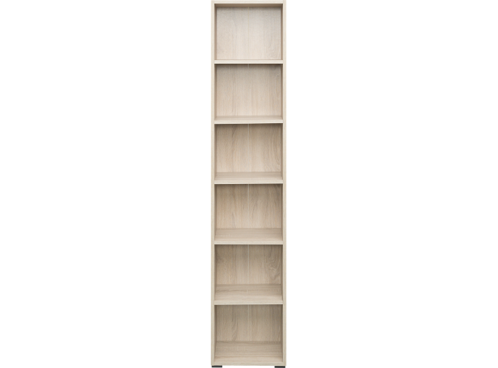 bibliotheque 40x196x28 cm chene biblioth que salon s jour meuble fly. Black Bedroom Furniture Sets. Home Design Ideas