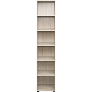 etagere 1x2 cases chene grise fly. Black Bedroom Furniture Sets. Home Design Ideas