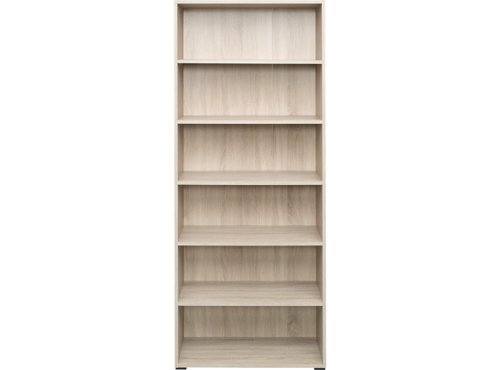 bibliotheque 80x196x36 cm chene biblioth que salon s jour meuble fly. Black Bedroom Furniture Sets. Home Design Ideas