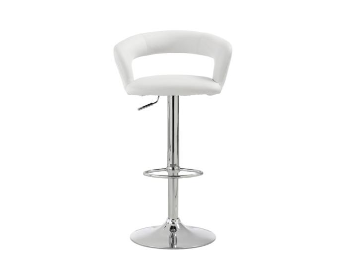 tabouret bar blanc chrome fly. Black Bedroom Furniture Sets. Home Design Ideas