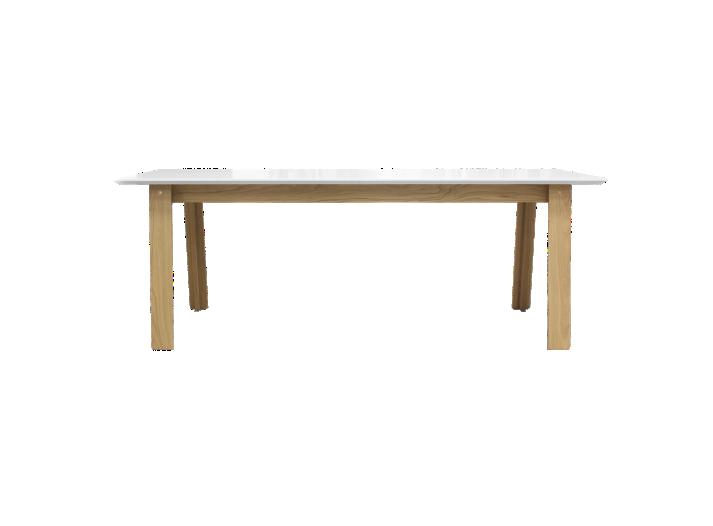 Table rectangulaire allonge blanc et chene fly for Table qui s allonge