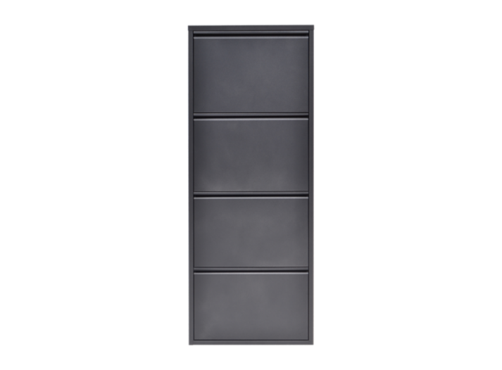 meuble a chaussures 4 abattants gris anthracite fly. Black Bedroom Furniture Sets. Home Design Ideas