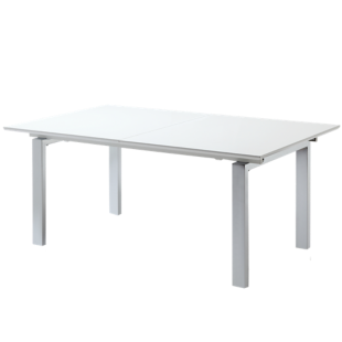 FLY-table rectangulaire + allonges laquee blanc