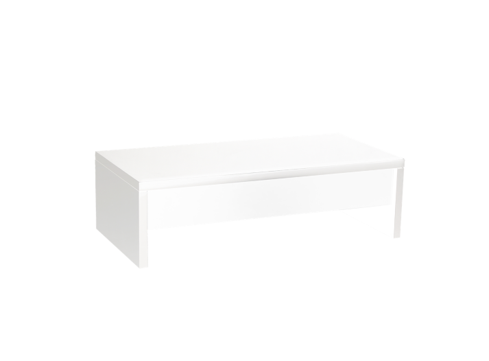 Table basse plateau relevable coloris blanc meuble fly - Table basse relevable fly ...