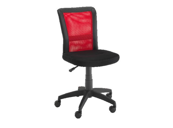 chaise de bureau sur roulettes noir/rouge - fly - Fly Chaise De Bureau
