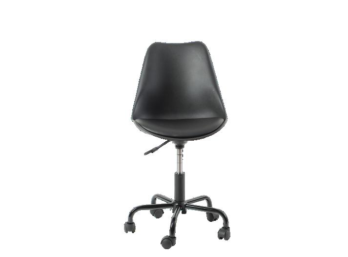 chaise de bureau pu noir - fly - Fly Chaise De Bureau