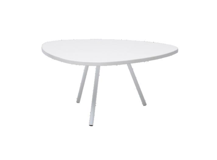 Table basse hauteur 28cm blanc mat fly - Hauteur d une table basse ...