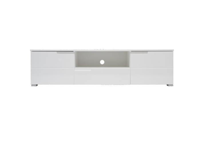 meuble tv 2 portes 1 tirois laque coloris blanc fly. Black Bedroom Furniture Sets. Home Design Ideas