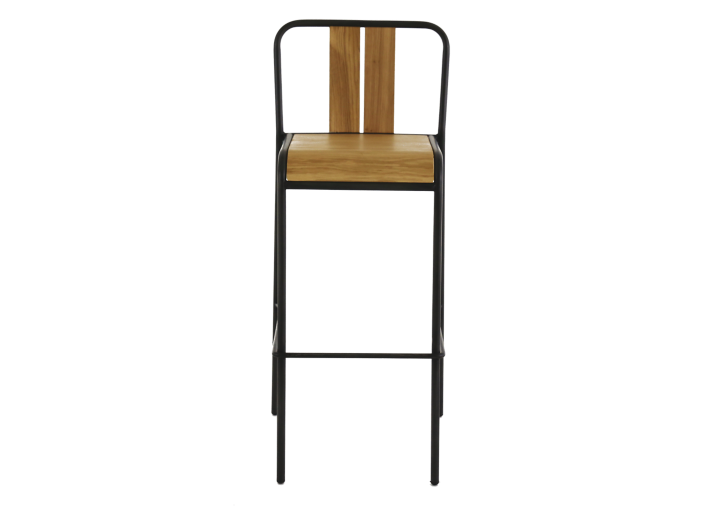 Tabouret de bar metal et chene fly - Tabouret bar transparent fly ...
