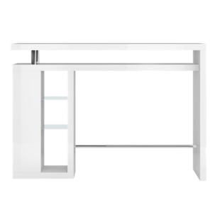 bar etagere verre laque blanc fly. Black Bedroom Furniture Sets. Home Design Ideas