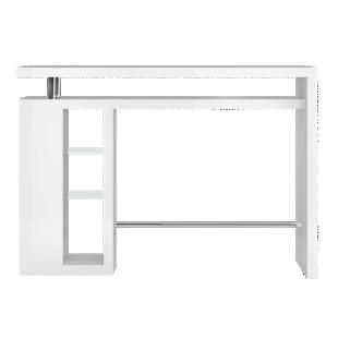 Bar etagere verre laque blanc fly - Table bar blanc laque ...
