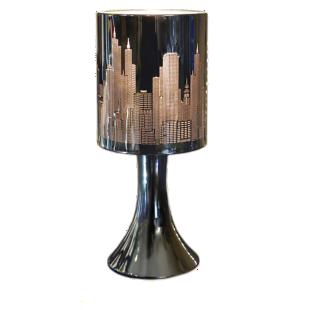 FLY-lampe chrome noir