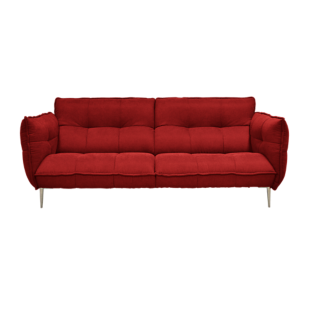FLY-canape fixe 3 places tissu coloris rouge