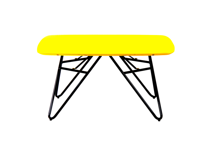 table basse plateau 80x80 cm jaune fly. Black Bedroom Furniture Sets. Home Design Ideas