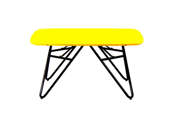 table basse plateau 80x80 cm jaune fly. Black Bedroom Furniture Sets. Home Design Ideas