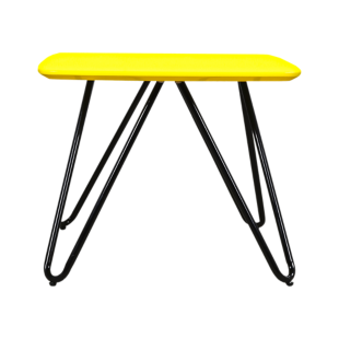 FLY-table basse plateau 50x50 cm  jaune