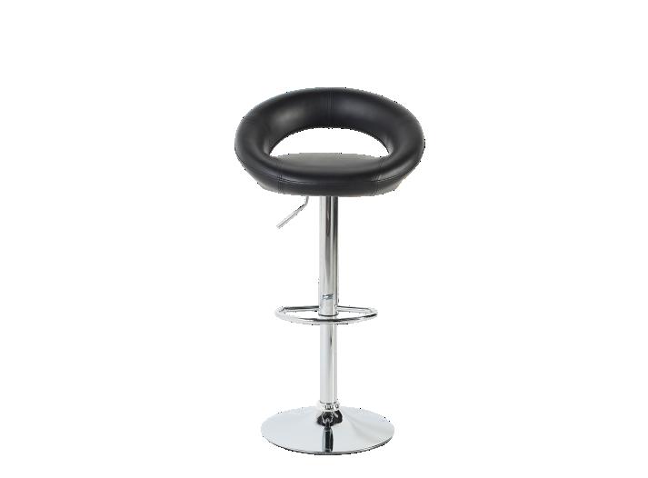Tabouret De Bar Chrome Assise Noir Tabouret Table Chaise Meuble Fly