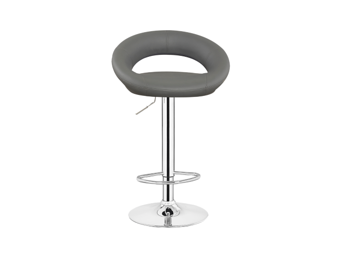 Tabouret de bar chrome assise gris fly - Tabouret bar transparent fly ...