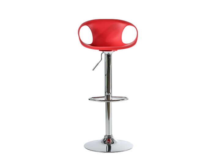 Tabouret de bar chrome assise rouge tabouret table - Tabouret bar transparent fly ...