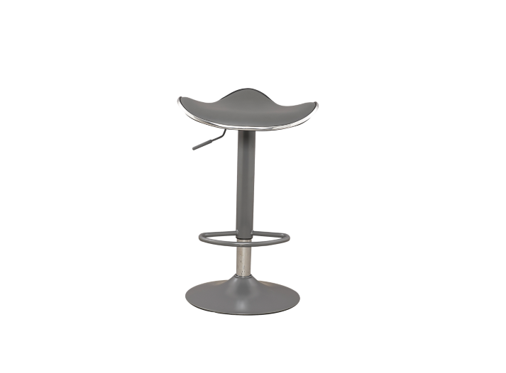Tabouret De Bar Gris Assise Gris Fly