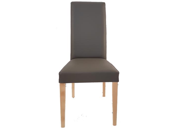 chaise croute de cuir gris fonce fly. Black Bedroom Furniture Sets. Home Design Ideas