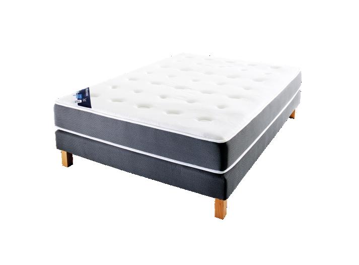 sommier tapissier lattes 80x200cm anthracite sommier lit literie fly. Black Bedroom Furniture Sets. Home Design Ideas