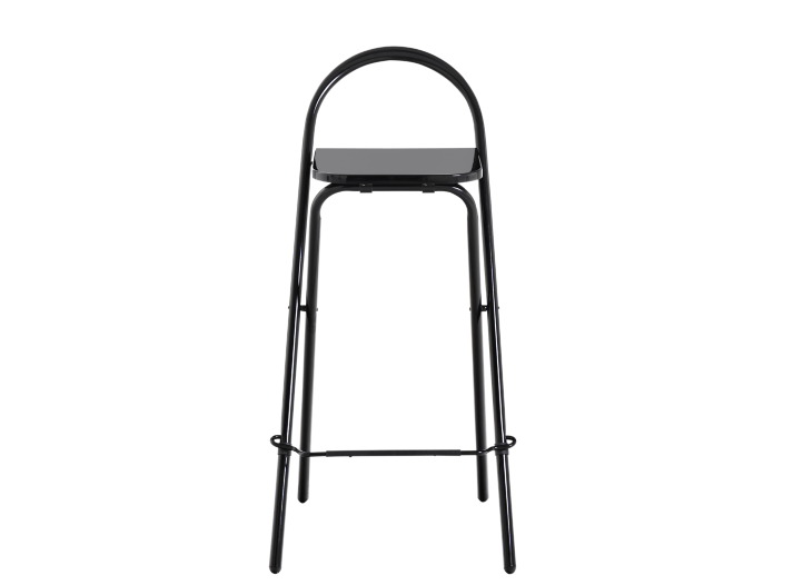 Tabouret de bar pliant h 97 cm laque noir tabouret - Tabouret bar transparent fly ...