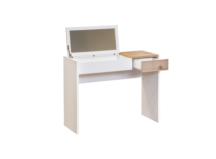 Console coiffeuse blanc chene fly - Meuble coiffeuse fly ...