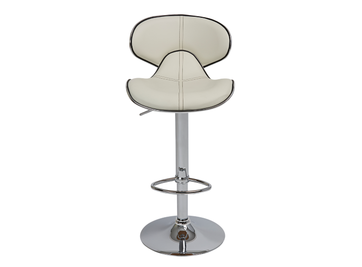 Tabouret de bar assise pu blanc fly - Tabouret bar transparent fly ...