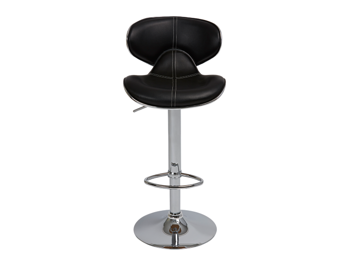 Tabouret de bar assise pu noir fly - Tabouret bar transparent fly ...
