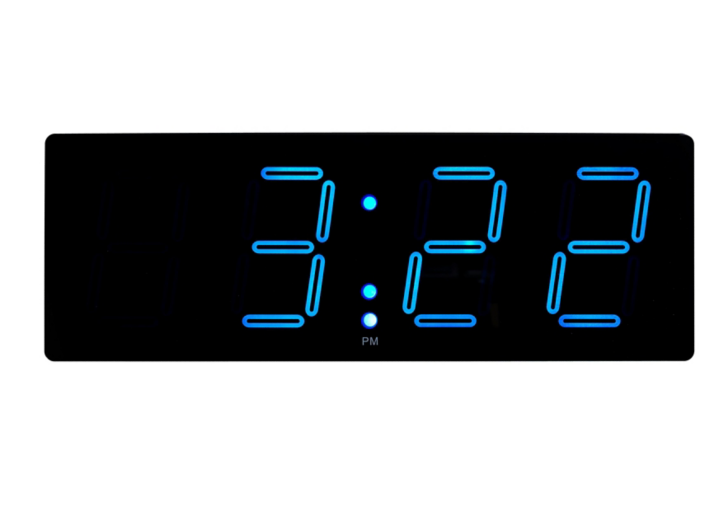 Horloge murale digitale cm noir bleu fly - Horloge digitale murale led ...