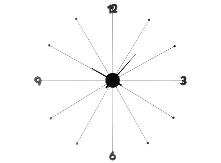 horloge d100cm en aluminium noire horloge d co murale d coration fly. Black Bedroom Furniture Sets. Home Design Ideas