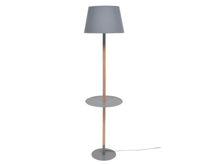 lampadaire h160cm bois metal noir lampadaire. Black Bedroom Furniture Sets. Home Design Ideas