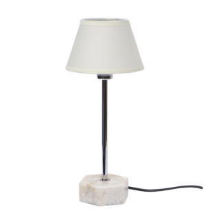 FLY-lampe a poser h36cm marbre/blanc