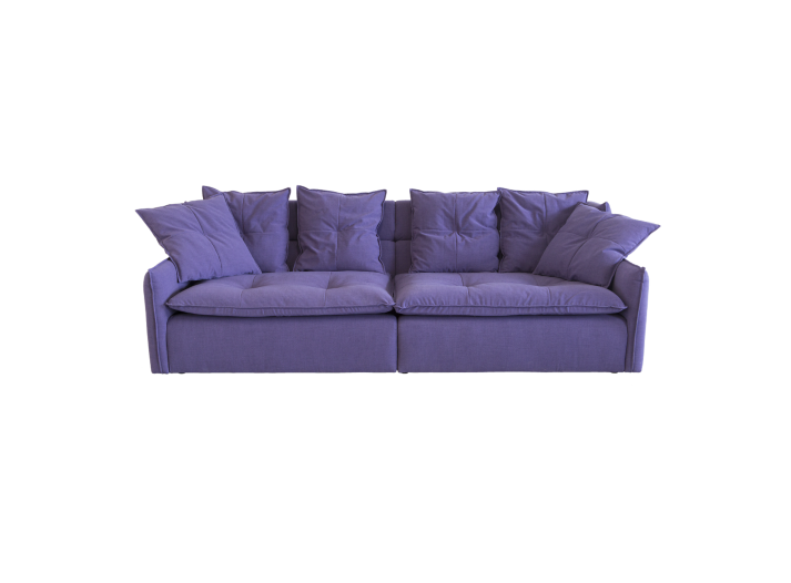 canape fixe 4 places tissu violet fly. Black Bedroom Furniture Sets. Home Design Ideas