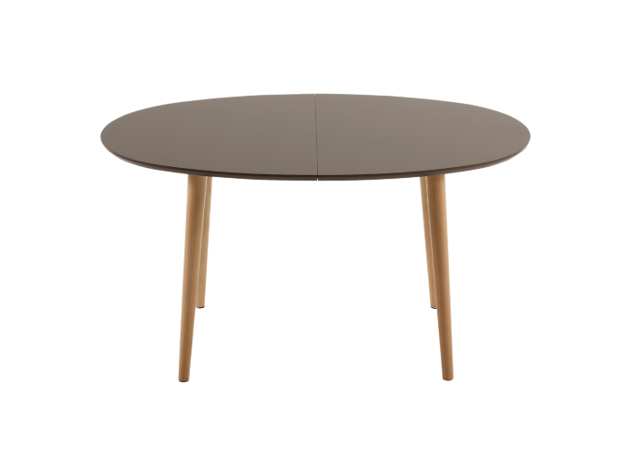 Table extensible ovale gris hetre table table chaise for Table extensible gris clair